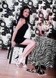 härlig modekvinna Royaltyfria Bilder