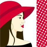 härlig modekvinna royaltyfri illustrationer
