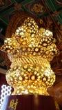 Härlig modell av kinesisk stil för guld- lampa Arkivbilder