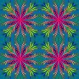 Härlig modell från fractalblommor Blå och purpurfärgad palett Fotografering för Bildbyråer