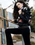 härlig modemodell Royaltyfria Bilder