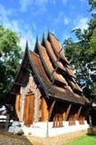 Härlig modern byggnad på baandam i Chiang Rai Royaltyfri Fotografi