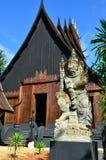 Härlig modern byggnad på baandam i Chiang Rai Royaltyfri Foto