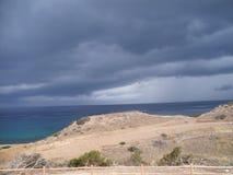 härlig molnig sky Arkivfoto