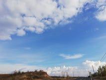 härlig molnnatur för himmel royaltyfri bild