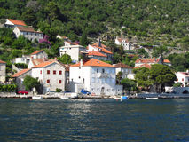 Härlig Montenegro fjärd Arkivfoto