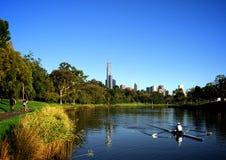 Härlig morgon för att öva i Melbourne Fotografering för Bildbyråer