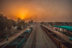 Härlig morgon från jaipur, rajasthan royaltyfria foton