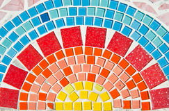 härlig mosaik Arkivfoton