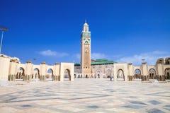 Härlig moské Hassan i andra hand, Casablanca, Marocko Royaltyfria Foton