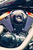 härlig motormotorcykel Royaltyfria Bilder