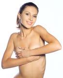härlig naken kvinna Arkivbild