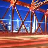 härlig natt shanghai Arkivbild