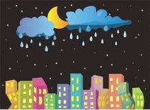 härlig natt royaltyfri illustrationer