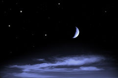 Härlig natthimmel Arkivbild