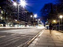 Härlig nattlandskapbild av Edinburg Arkivbilder
