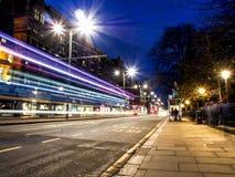 Härlig nattlandskapbild av Edinburg Fotografering för Bildbyråer