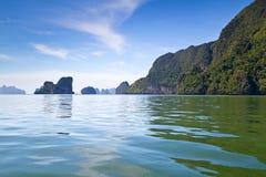 Härlig natur av den Phang Nga fjärden Arkivfoton
