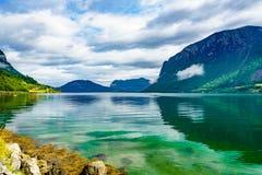 Härlig natur Norge arkivbilder