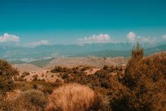 Härlig natur och berg av kalkon arkivbilder