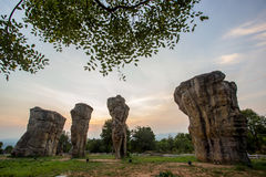 härlig natur under soluppgångtid på Stonehenge Royaltyfria Bilder