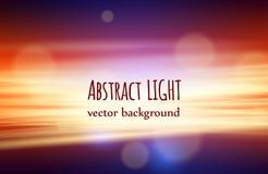 Härlig naturabstrakt begreppbakgrund med bokeh och ljus vektor illustrationer