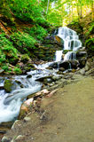 Härlig naturlig vattenfall Närbild Royaltyfria Foton