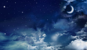Härlig nightly himmel Arkivfoto