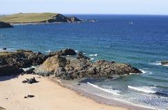 Härlig nordlig kustlinje, Skottland Arkivfoto