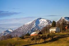Härlig norsk utsikt Arkivbilder