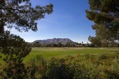 Härlig ny modern golfbanafarled i Arizona Fotografering för Bildbyråer