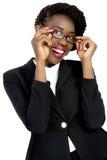 Härlig och dynamisk afrikansk affärskvinna för barn, Arkivfoton
