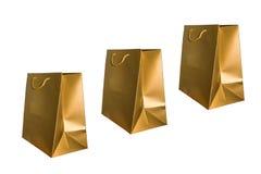 Härlig och färgrik guld- pappers- påse royaltyfri illustrationer