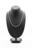 härlig och lyxig halsband på smyckenställningshals Arkivfoto