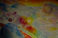 Härlig olje- målning Arkivbilder