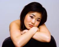 härlig orientalisk kvinna Fotografering för Bildbyråer