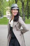 härlig orientalisk le kvinna Royaltyfria Bilder