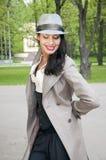 härlig orientalisk le kvinna Royaltyfria Foton
