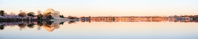 Härlig otta Jefferson Memorial Fotografering för Bildbyråer