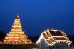härlig pagoda Arkivfoto