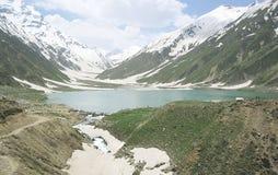 Härlig Pakistan sjösafulmaluk i kaghan Naran Royaltyfri Bild