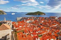 Härlig panorama av Dubrovnik Royaltyfri Foto