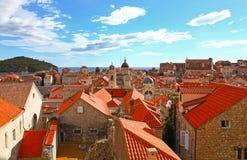 Härlig panorama av Dubrovnik, Kroatien Royaltyfri Foto