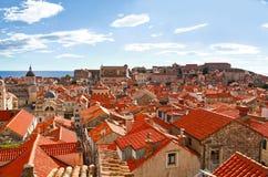 Härlig panorama av Dubrovnik, Kroatien Royaltyfria Bilder