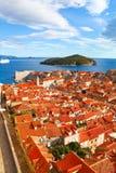 Härlig panorama av Dubrovnik, Kroatien Arkivbild