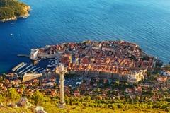 Härlig panorama av Dubrovnik, Kroatien Arkivbilder