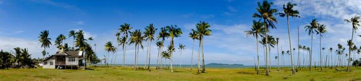 Härlig panorama, fiskareby som lokaliseras på Terengganu, Malaysia arkivbilder