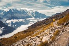 Härlig panorama- natur i bergen arkivfoton