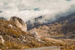 Härlig panorama- natur i bergen arkivbilder