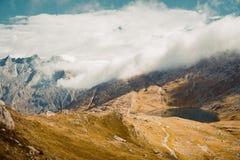 Härlig panorama- natur i bergen fotografering för bildbyråer